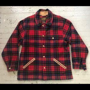 Vintage Red Plaid Eddie Bauer Wool Jacket Men's XL